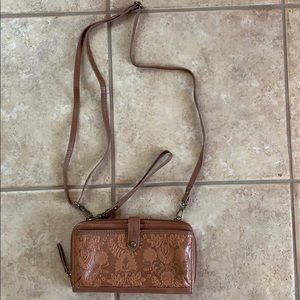 Great Brown Leather Clutch
